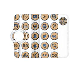 Social Media Icon Icons Social Kindle Fire Hd (2013) Flip 360 Case by Nexatart