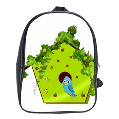 Bluebird Bird Birdhouse Avian School Bags(large)