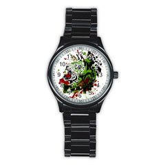 Do It Sport Crossfit Fitness Stainless Steel Round Watch by Nexatart