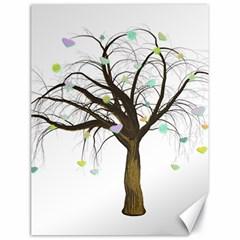 Tree Fantasy Magic Hearts Flowers Canvas 18  X 24