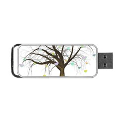 Tree Fantasy Magic Hearts Flowers Portable Usb Flash (two Sides) by Nexatart