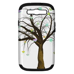 Tree Fantasy Magic Hearts Flowers Samsung Galaxy S Iii Hardshell Case (pc+silicone) by Nexatart