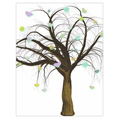 Tree Fantasy Magic Hearts Flowers Drawstring Bag (large) by Nexatart