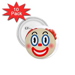 Clown Funny Make Up Whatsapp 1 75  Buttons (10 Pack) by Nexatart