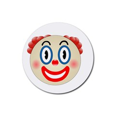 Clown Funny Make Up Whatsapp Rubber Round Coaster (4 Pack)  by Nexatart