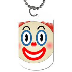 Clown Funny Make Up Whatsapp Dog Tag (two Sides) by Nexatart