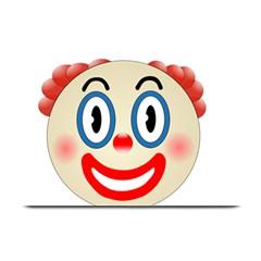 Clown Funny Make Up Whatsapp Plate Mats by Nexatart