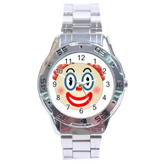 Clown Funny Make Up Whatsapp Stainless Steel Analogue Watch