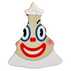 Clown Funny Make Up Whatsapp Ornament (christmas Tree)  by Nexatart