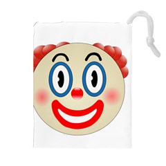 Clown Funny Make Up Whatsapp Drawstring Pouches (extra Large) by Nexatart