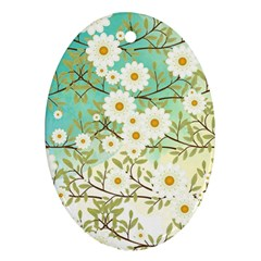 Springtime Scene Oval Ornament (two Sides) by linceazul