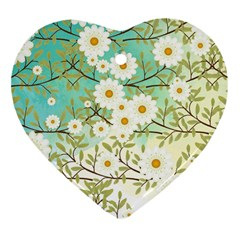 Springtime Scene Heart Ornament (two Sides) by linceazul