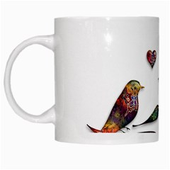 Birds Abstract Exotic Colorful White Mugs by Nexatart