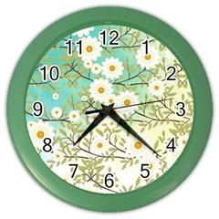 Springtime Scene Color Wall Clocks by linceazul