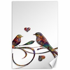 Birds Abstract Exotic Colorful Canvas 20  X 30   by Nexatart