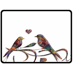 Birds Abstract Exotic Colorful Fleece Blanket (large)  by Nexatart