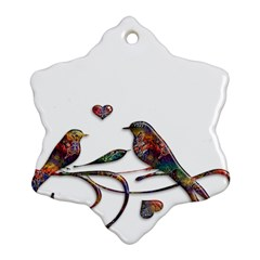 Birds Abstract Exotic Colorful Ornament (snowflake) by Nexatart