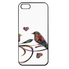 Birds Abstract Exotic Colorful Apple Iphone 5 Seamless Case (black) by Nexatart