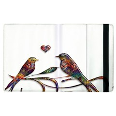 Birds Abstract Exotic Colorful Apple Ipad 2 Flip Case by Nexatart