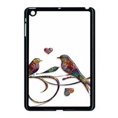 Birds Abstract Exotic Colorful Apple Ipad Mini Case (black) by Nexatart