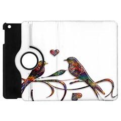 Birds Abstract Exotic Colorful Apple Ipad Mini Flip 360 Case by Nexatart