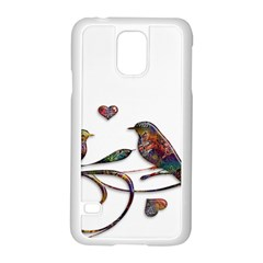 Birds Abstract Exotic Colorful Samsung Galaxy S5 Case (white) by Nexatart