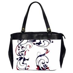 Scroll Border Swirls Abstract Office Handbags (2 Sides)  by Nexatart