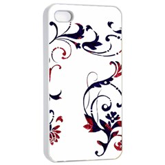 Scroll Border Swirls Abstract Apple Iphone 4/4s Seamless Case (white) by Nexatart