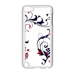 Scroll Border Swirls Abstract Apple Ipod Touch 5 Case (white) by Nexatart