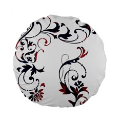Scroll Border Swirls Abstract Standard 15  Premium Round Cushions by Nexatart
