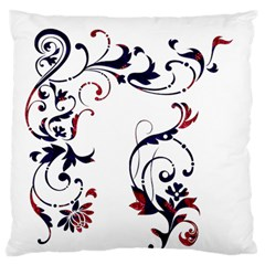 Scroll Border Swirls Abstract Large Flano Cushion Case (two Sides) by Nexatart