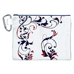 Scroll Border Swirls Abstract Canvas Cosmetic Bag (xxl) by Nexatart