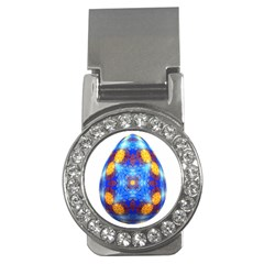 Easter Eggs Egg Blue Yellow Money Clips (cz)  by Nexatart