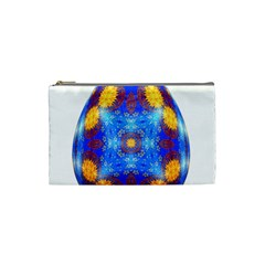 Easter Eggs Egg Blue Yellow Cosmetic Bag (small)  by Nexatart