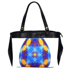 Easter Eggs Egg Blue Yellow Office Handbags (2 Sides)  by Nexatart