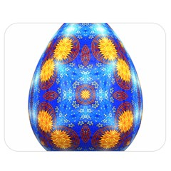 Easter Eggs Egg Blue Yellow Double Sided Flano Blanket (medium)  by Nexatart