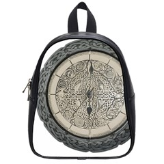 Clock Celtic Knot Time Celtic Knot School Bags (small)  by Nexatart
