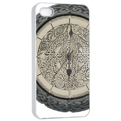 Clock Celtic Knot Time Celtic Knot Apple Iphone 4/4s Seamless Case (white) by Nexatart