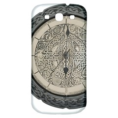 Clock Celtic Knot Time Celtic Knot Samsung Galaxy S3 S Iii Classic Hardshell Back Case by Nexatart