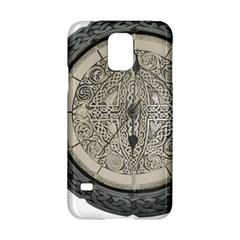 Clock Celtic Knot Time Celtic Knot Samsung Galaxy S5 Hardshell Case  by Nexatart