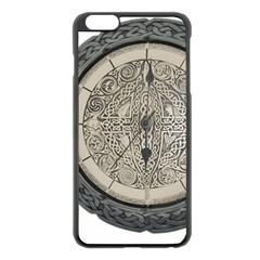 Clock Celtic Knot Time Celtic Knot Apple Iphone 6 Plus/6s Plus Black Enamel Case by Nexatart