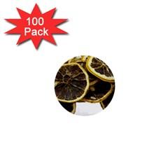 Lemon Dried Fruit Orange Isolated 1  Mini Buttons (100 Pack)  by Nexatart