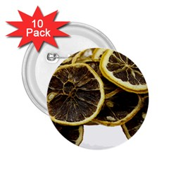 Lemon Dried Fruit Orange Isolated 2 25  Buttons (10 Pack)  by Nexatart