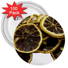 Lemon Dried Fruit Orange Isolated 3  Buttons (100 Pack)  by Nexatart