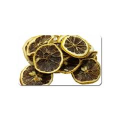 Lemon Dried Fruit Orange Isolated Magnet (name Card) by Nexatart
