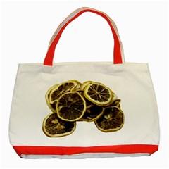 Lemon Dried Fruit Orange Isolated Classic Tote Bag (red) by Nexatart