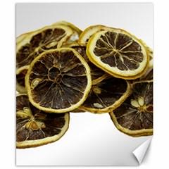 Lemon Dried Fruit Orange Isolated Canvas 8  X 10  by Nexatart