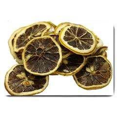 Lemon Dried Fruit Orange Isolated Large Doormat  by Nexatart