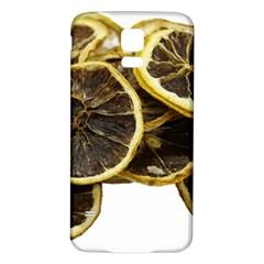 Lemon Dried Fruit Orange Isolated Samsung Galaxy S5 Back Case (white) by Nexatart