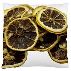 Lemon Dried Fruit Orange Isolated Large Flano Cushion Case (two Sides) by Nexatart